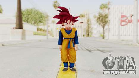 Dragon Ball Xenoverse Goten SSG para GTA San Andreas segunda pantalla