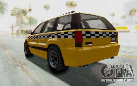 Canis Seminole Taxi para GTA San Andreas vista posterior izquierda