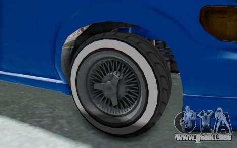 GTA 5 Vapid Minivan Custom para GTA San Andreas vista hacia atrás