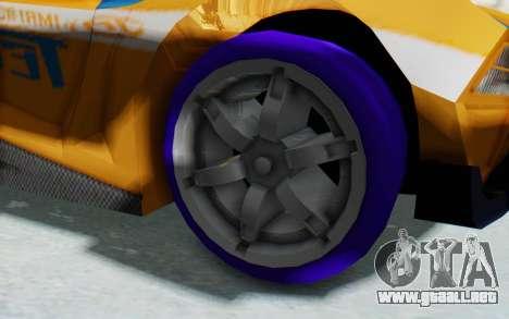 Hot Wheels AcceleRacers 4 para GTA San Andreas vista hacia atrás