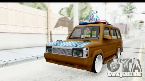 Toyota Kijang Grand Extra with Bike para la visión correcta GTA San Andreas
