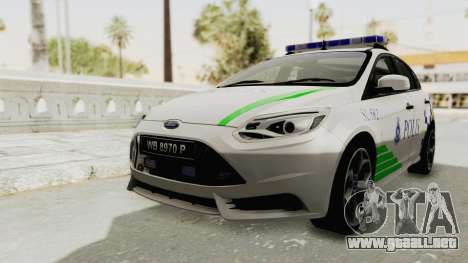 Ford Focus ST 2013 PDRM para la visión correcta GTA San Andreas
