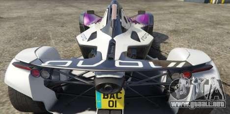 GTA 5 BAC Mono vista lateral izquierda trasera