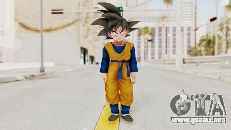 Dragon Ball Xenoverse Goten SJ para GTA San Andreas segunda pantalla