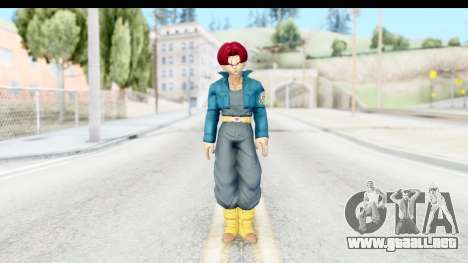 Dragon Ball Xenoverse Future Trunks SSG para GTA San Andreas segunda pantalla