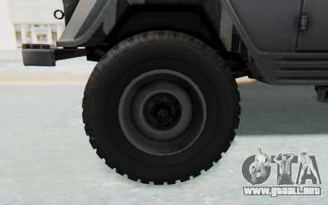UAZ-460Б para GTA San Andreas vista hacia atrás