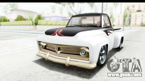 GTA 5 Vapid Slamvan Custom para visión interna GTA San Andreas