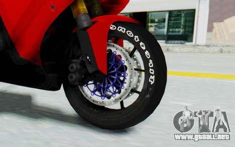Yamaha YZF-R1 para GTA San Andreas vista hacia atrás
