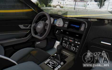 Audi RS6 para visión interna GTA San Andreas