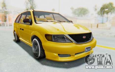 GTA 5 Vapid Minivan Custom IVF para la visión correcta GTA San Andreas