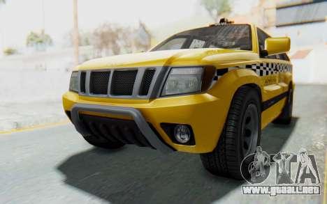 Canis Seminole Taxi para la visión correcta GTA San Andreas