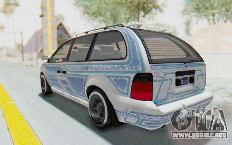 GTA 5 Vapid Minivan Custom without Hydro para la vista superior GTA San Andreas