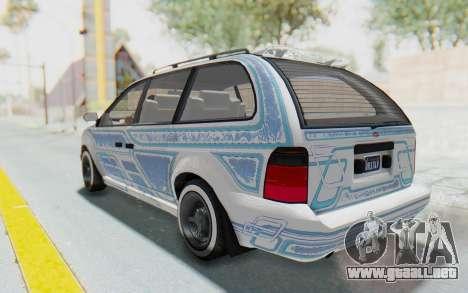 GTA 5 Vapid Minivan Custom para la vista superior GTA San Andreas