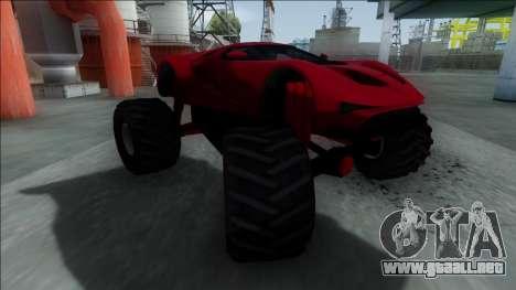 GTA V Vapid FMJ Monster Truck para GTA San Andreas left