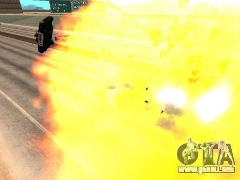 Blast machines para GTA San Andreas sucesivamente de pantalla