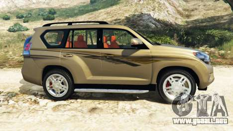 GTA 5 Toyota Land Cruiser Prado 2012 vista lateral izquierda