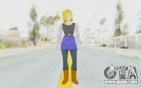 Dragon Ball Xenoverse Android 18 No Jacket para GTA San Andreas segunda pantalla
