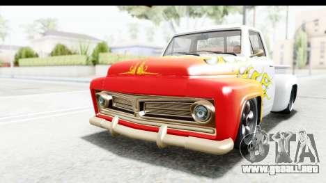 GTA 5 Vapid Slamvan without Hydro IVF para la vista superior GTA San Andreas