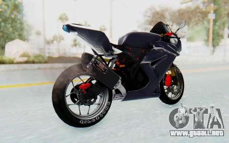 Kawasaki Ninja 250R Streetrace v2 para GTA San Andreas left