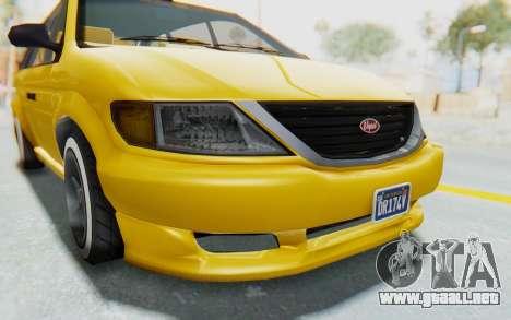 GTA 5 Vapid Minivan Custom IVF para vista lateral GTA San Andreas