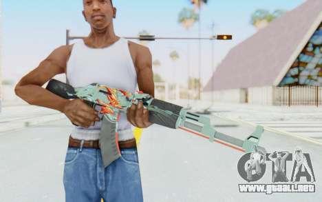 CS:GO - AK-47 Aquamarine Revenge para GTA San Andreas tercera pantalla