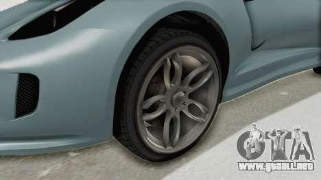 GTA 5 Grotti Bestia GTS v2 SA Lights para GTA San Andreas vista hacia atrás
