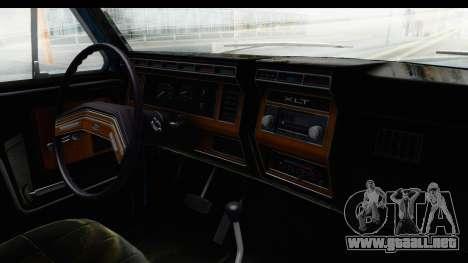 Ford Bronco 1980 Roof para visión interna GTA San Andreas