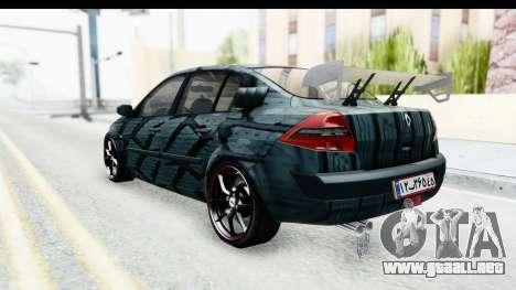 Renault Megane Sport para GTA San Andreas vista posterior izquierda
