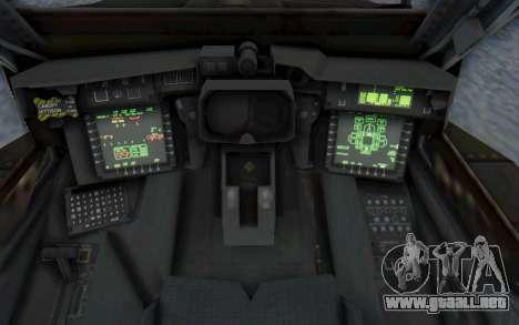AH-64 Apache Desert para vista lateral GTA San Andreas
