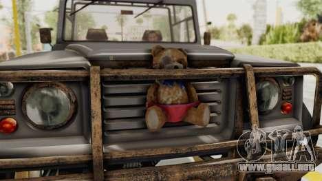 GTA 5 Canis Bodhi Trevor para GTA San Andreas vista hacia atrás