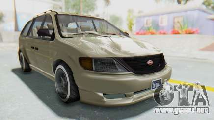 GTA 5 Vapid Minivan Custom without Hydro IVF para GTA San Andreas