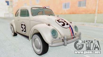 Volkswagen Beetle 1200 Type 1 1963 Herbie para GTA San Andreas