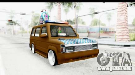 Toyota Kijang Grand Extra with Bike para GTA San Andreas