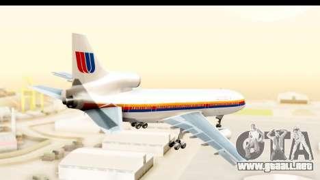 Lockheed L-1011-100 TriStar United Airlines para la visión correcta GTA San Andreas
