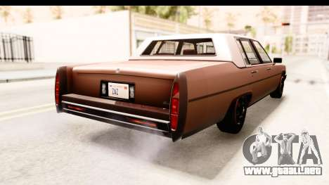 GTA 5 Albany Emperor SA Style para GTA San Andreas left