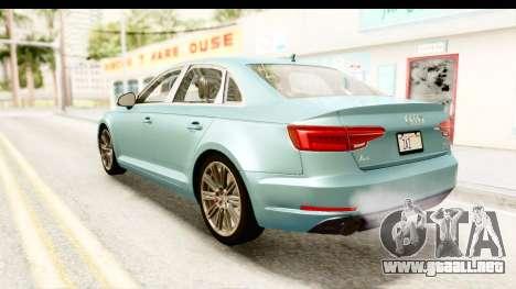 Audi A4 TFSI Quattro 2017 para GTA San Andreas left