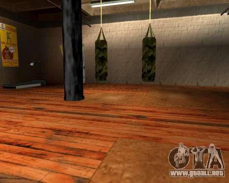 Militar nueva bolsa de boxeo para GTA San Andreas segunda pantalla