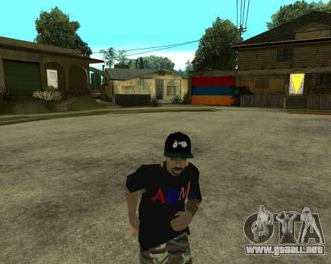 New Armenian Skin para GTA San Andreas twelth pantalla