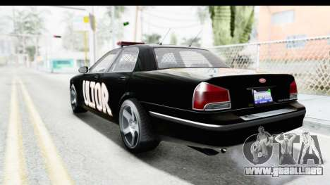 Vapid ULTOR Police Cruiser para GTA San Andreas left