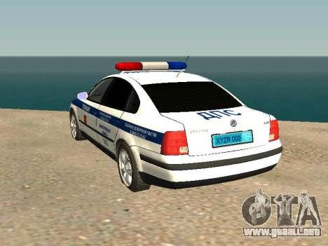 Volkswagen Passat ДПС para GTA San Andreas left