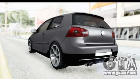 Volkswagen Golf 5 Stock para GTA San Andreas left