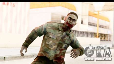 Left 4 Dead 2 - Zombie Military para GTA San Andreas