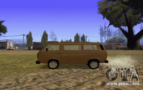 Volkswagen Transporter T-3 Armenian para visión interna GTA San Andreas