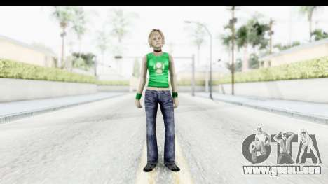 Silent Hill 3 - Heather Sporty Green Get A Life para GTA San Andreas segunda pantalla