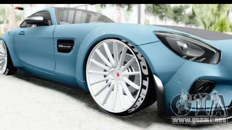 Mercedes-Benz AMG GT Prior Design para GTA San Andreas vista hacia atrás