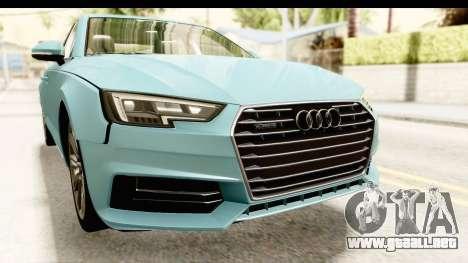 Audi A4 TFSI Quattro 2017 para vista lateral GTA San Andreas