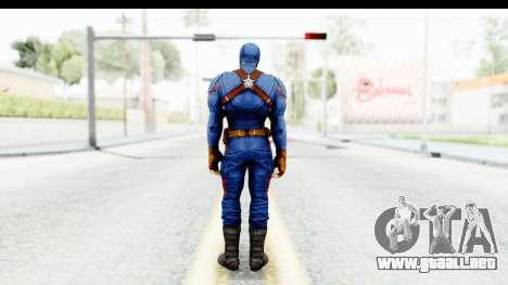 Marvel Heroes - Capitan America CW para GTA San Andreas tercera pantalla