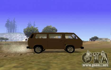 Volkswagen Transporter T-3 Armenian para la vista superior GTA San Andreas