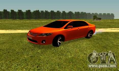 Toyota Corolla para la visión correcta GTA San Andreas