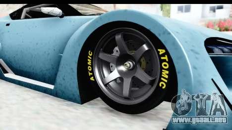 GTA 5 Emperor ETR1 v2 IVF para GTA San Andreas vista hacia atrás